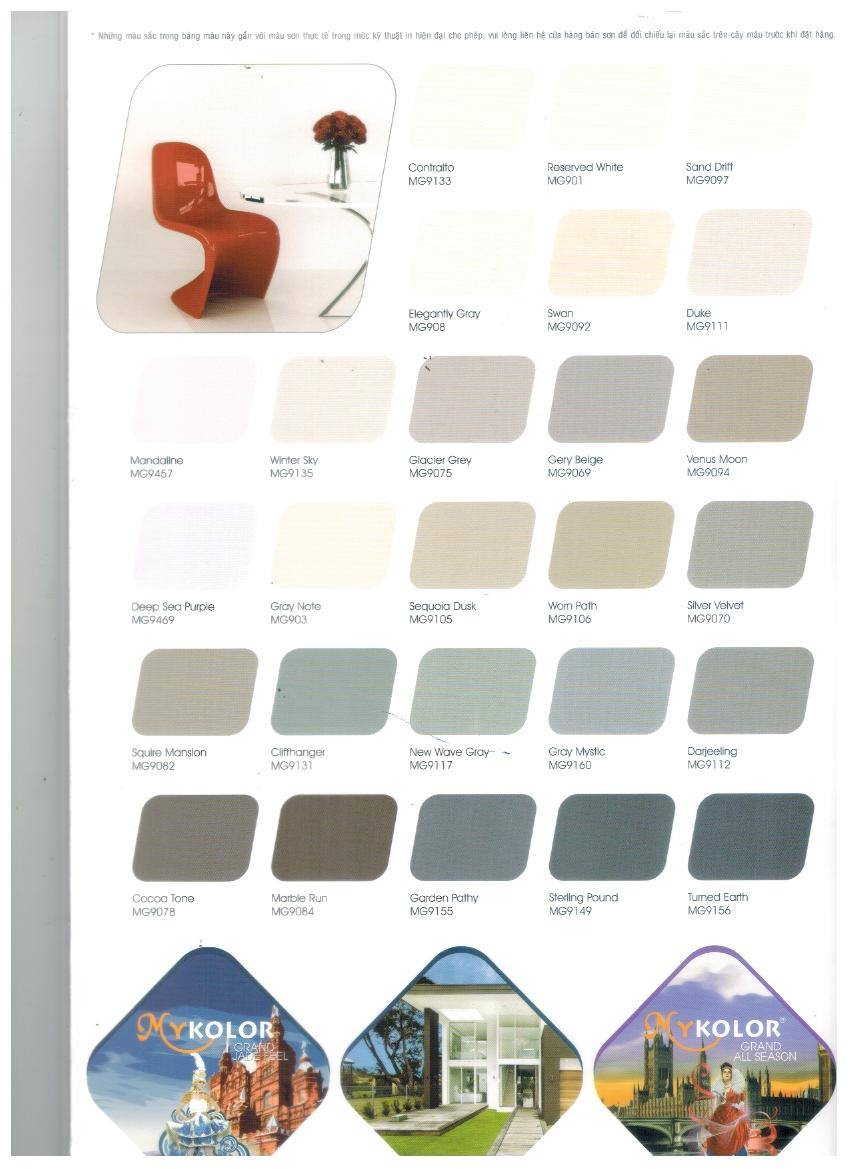 Màu sơn Mykolor Grand ngoại thất